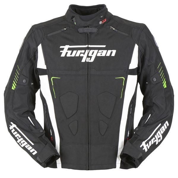 Motorcycle Jackets Furygan Vortex Black White Green