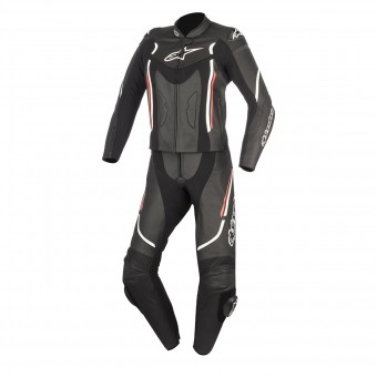Leather Motorcycle Suits Alpinestars Stella Motegi V2 2P Black White Red
