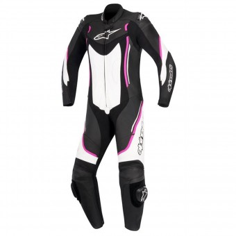 Leather Motorcycle Suits Alpinestars Stella Motegi V2 Black White Fuchsia