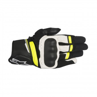 Motorcycle Gloves Alpinestars Booster Black Yellow Fluo