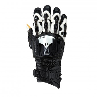 Motorcycle Gloves Knox Handroid MKIII Pod Black White