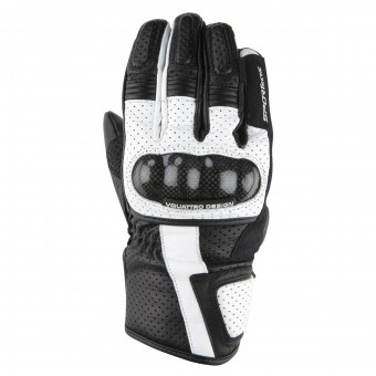 Motorcycle Gloves V'Quattro RC-17 Black White
