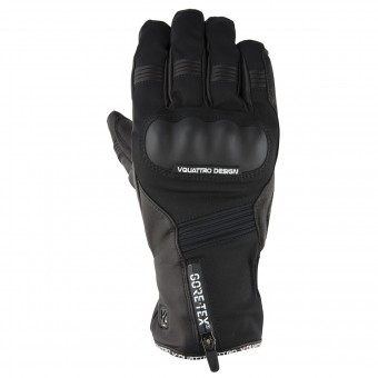 Motorcycle Gloves V'Quattro Stormer 17 Gore-Tex Black