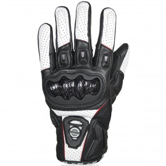 Motorcycle Gloves Darts Striker Black White