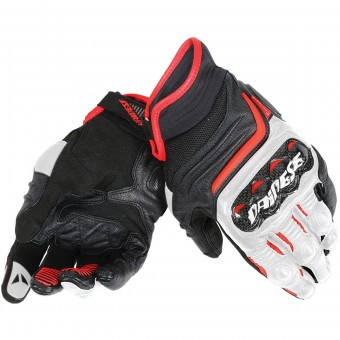 Motorcycle Gloves Dainese Carbon D1 Short Black White Red