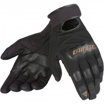 Motorcycle Gloves Dainese Double Down Black