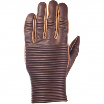 Motorcycle Gloves Ride & Sons Emblem Brown Camel