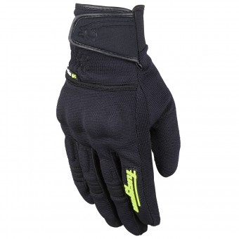 Motorcycle Gloves Furygan Jet Evo II Black Yellow Fluo