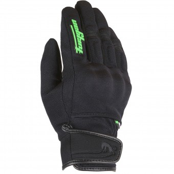 Motorcycle Gloves Furygan Jet Evo Kid Black Green Fluo