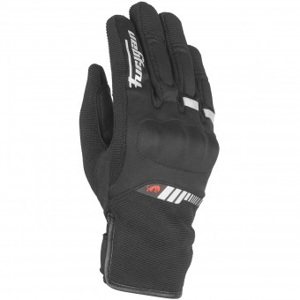 Motorcycle Gloves Furygan Jet Lady All Season Black White