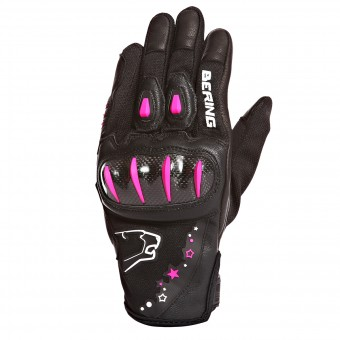 Motorcycle Gloves Bering Lady Cynthia Black Fuschia
