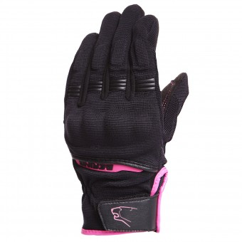 Motorcycle Gloves Bering Lady Fletcher Black Fushia
