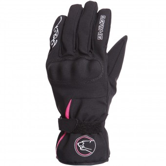 Motorcycle Gloves Bering Lady Victoria Black Fuchsia