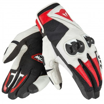 Motorcycle Gloves Dainese Mig C2 Black White Red