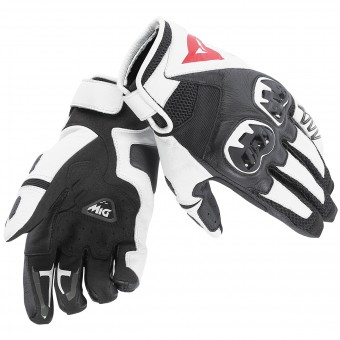 Motorcycle Gloves Dainese Mig C2 Black White