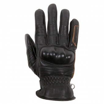 Motorcycle Gloves Helstons Monza Summer Black Brown
