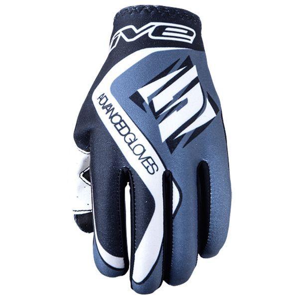 Motorcycle Gloves Five MX Practice Grey