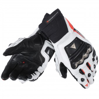 Motorcycle Gloves Dainese Race Pro In Black Red Fluo White