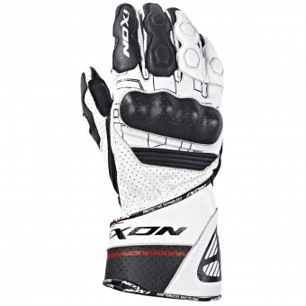 Motorcycle Gloves Ixon Rs Rallye Hp White Red Black