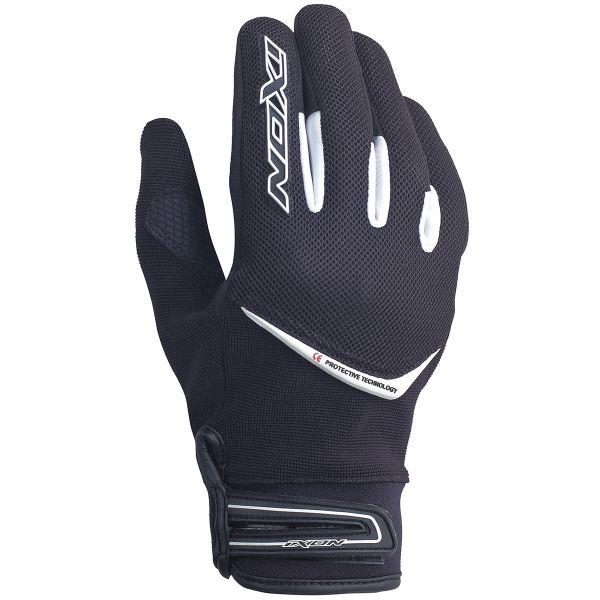 Motorcycle Gloves Ixon RS Slick HP Black White