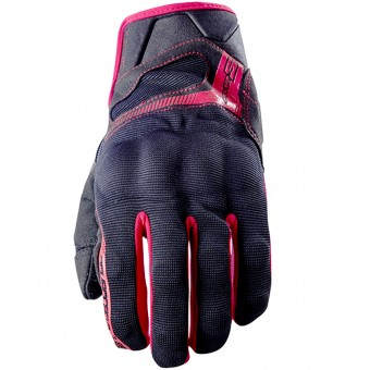 Motorcycle Gloves Five RS3 Black Red