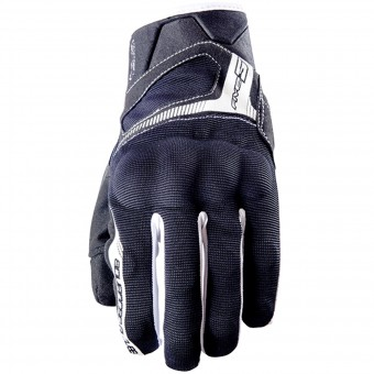 Motorcycle Gloves Five RS3 Black White