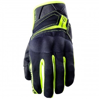 Motorcycle Gloves Five RS3 Black Yellow Fluo