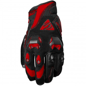 Motorcycle Gloves Five Stunt Evo Black Red