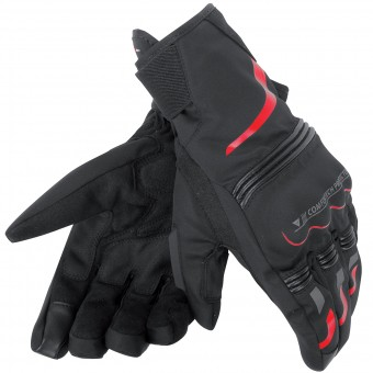 Motorcycle Gloves Dainese Tempest Unisex D-Dry Short Black Red