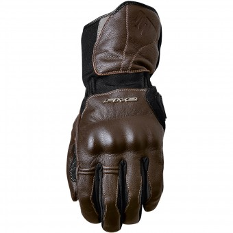 Motorcycle Gloves Five WFX Skin WP Brown