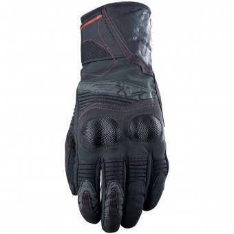 Motorcycle Gloves Five WFX2 WP Black Red