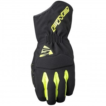 Motorcycle Gloves Five WFX3 WP Black Yellow Fluo