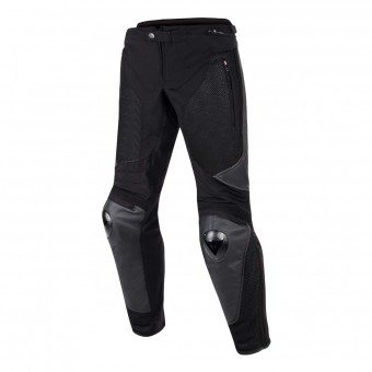 Motorcycle Trousers Dainese Mig Leather Pants Black