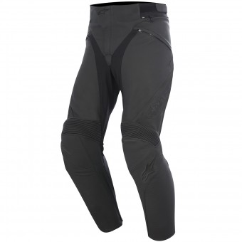 Motorcycle Trousers Alpinestars Jagg Leather Black Black