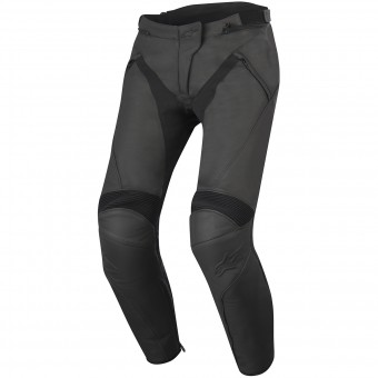 Motorcycle Trousers Alpinestars Stella Jagg Leather Black Black