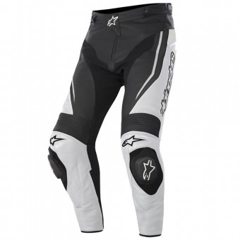 Motorcycle Trousers Alpinestars Track Pant Black White