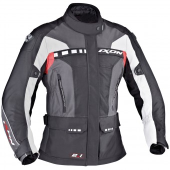 Motorcycle Jackets Ixon Corsica Lady Black Grey Red