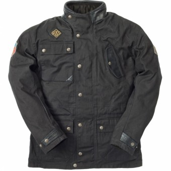 Motorcycle Jackets Ride & Sons Escape Waxed Black