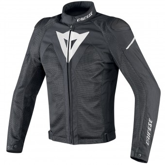 Motorcycle Jackets Dainese Hyper Flux D-Dry Black White