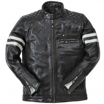 Motorcycle Jackets Ride & Sons Magnificient Buffalo Skin Black