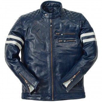 Motorcycle Jackets Ride & Sons Magnificient Buffalo Skin Blue