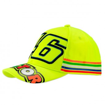 Motorcycle Caps VR 46 Cap Kid Stripes Yellow