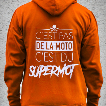 Motorcycle Hoodie Kikaninac Hoodie Supermot Orange