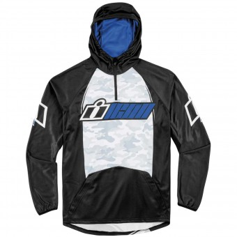 Motorcycle Hoodie ICON Single Stack Blue
