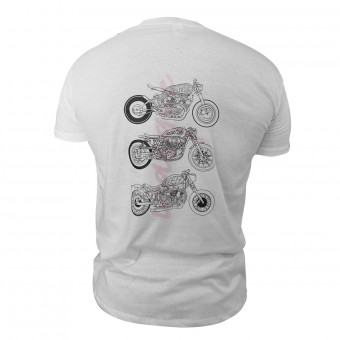Motorcycle T-Shirts iCasque Arrogance Motorcycles White