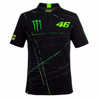 Motorcycle T-Shirts VR 46 Polo Monster DBTC Black