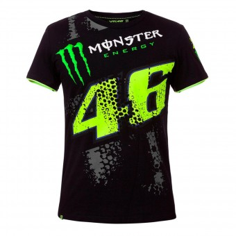 Motorcycle T-Shirts VR 46 T-Shirt Repplica DTBC Monster Black VR46
