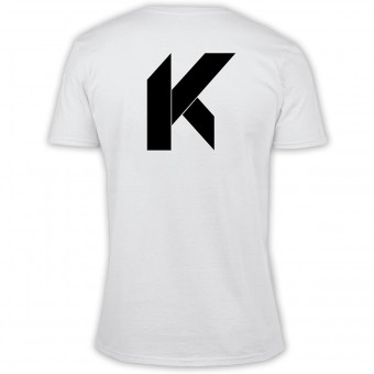 Motorcycle T-Shirts Kikaninac Big K White