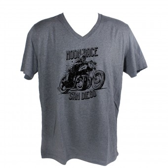 Motorcycle T-Shirts HARISSON Moon Race Grey