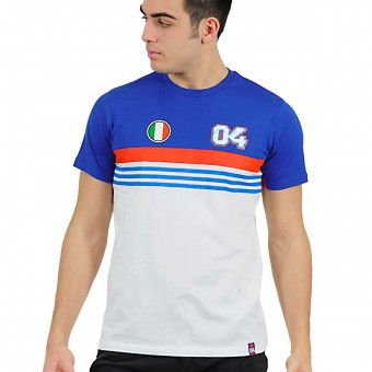 Motorcycle T-Shirts Andrea Dovizioso Stripes White Dovizioso 04